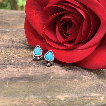 Turquoise Bubble Post Earrings
