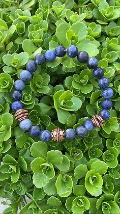 Sodalite and Copper Bracelet