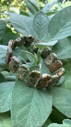 Silver Leaf Serpentine Bracelet