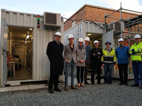 Kabinet ministers Bourgeois en Homans bezochten IMPROVED waterzuiveringscontainers