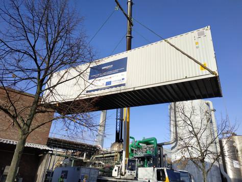 Vanaf nu staan de waterzuiveringscontainers op de site van Dow Terneuzen