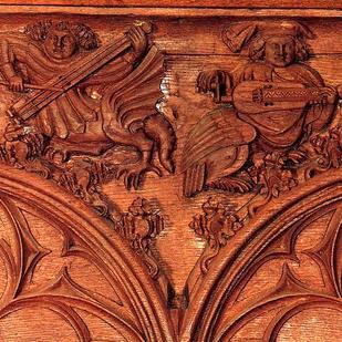 chorus (wood sculpture, 1380, Basel)