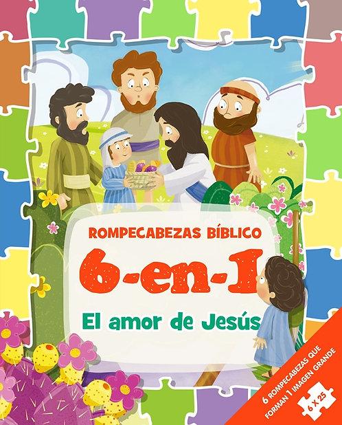 Rompecabezas Bíblicas 6 en 1 El Amor de Jesús