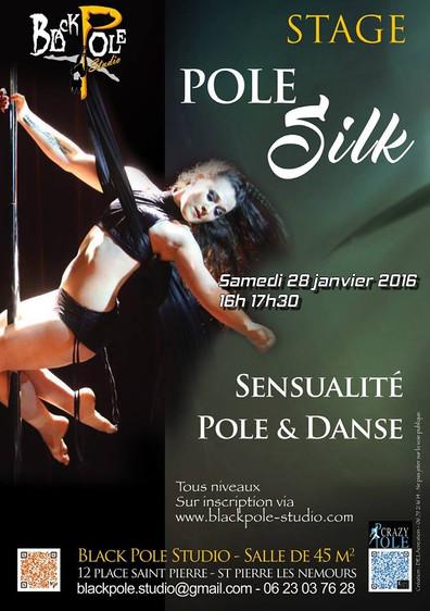 Stage Pole Silks - Black Pole Studio