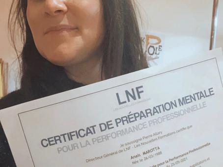 NEWS :Certifié en Préparation Mentale