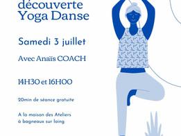 Séance découverte Yoga Danse