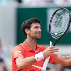Novak Djokovic from Serbia celebrating his victory