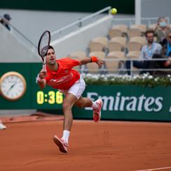 Novak Djokovic from Serbia