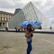 'Malay Lavender' Designer Folding Umbrella