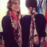 'Rose' Luxury Silk Oversized Scarf