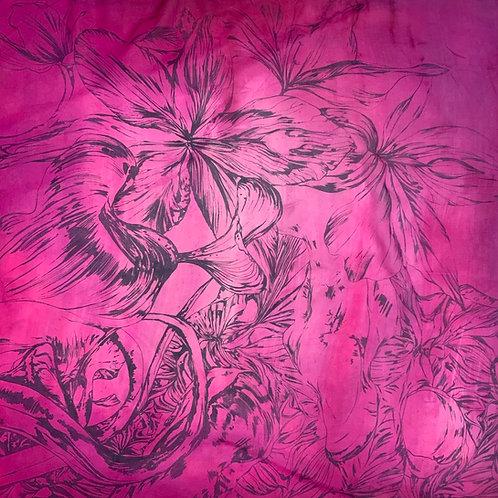 SAMPLE 10 - 100% Silk Chiffon Scarf - 90cm x 90cm