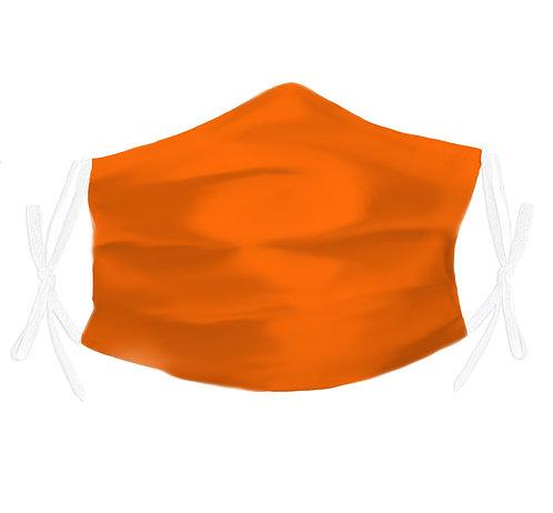 Coral Orange 100% Silk Face Mask