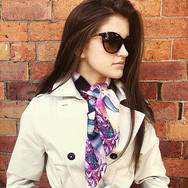 """Dalia"" Luxury Silk Oversized Scarf"