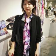 """Cyclamen Violet"" Luxury Oversized Silk Scarf"