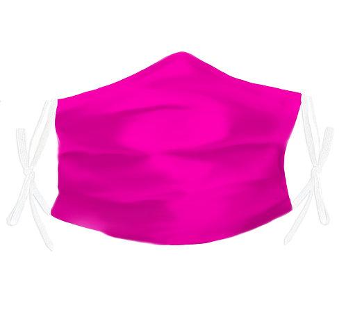 Fuchsia Pink 100% Silk Face Mask