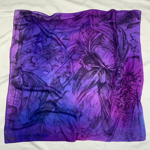 SAMPLE 03 - 100% Silk Twill Scarf - 90cm x 90cm
