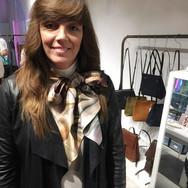 """Cyclamen Natural"" Luxury Silk Scarf - Oversized"