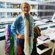 Heather Hand Painted Bespoke Oversized Scarf