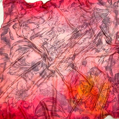 SAMPLE 14 - 100% Silk Twill Scarf - 140cm x 140cm