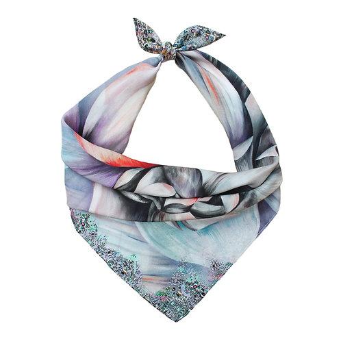 Poppy Small Luxury Silk Scarf