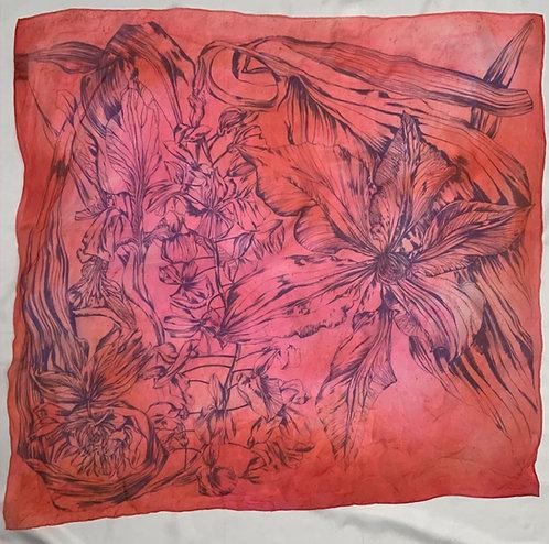 SAMPLE 12 - 100% Silk Chiffon Scarf - 90cm x 90cm