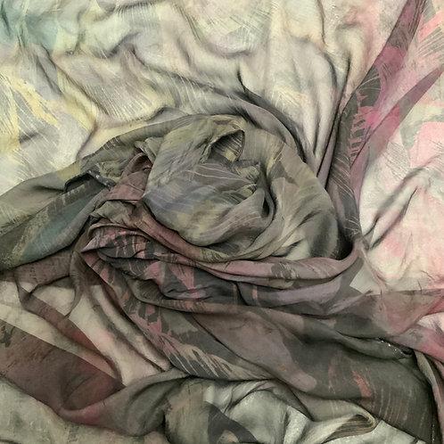 SAMPLE 24 - 100% Silk Chiffon Scarf - 140cm x 140cm