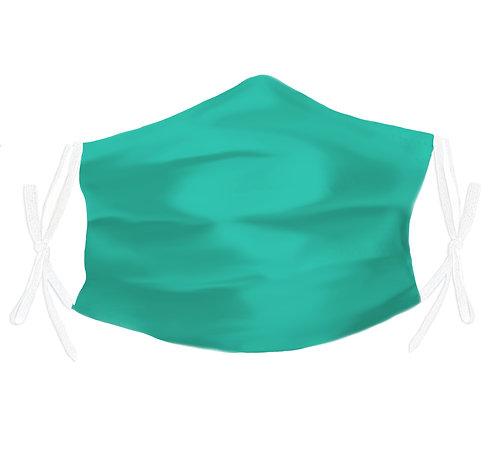 Aqua 100% Silk Face Mask