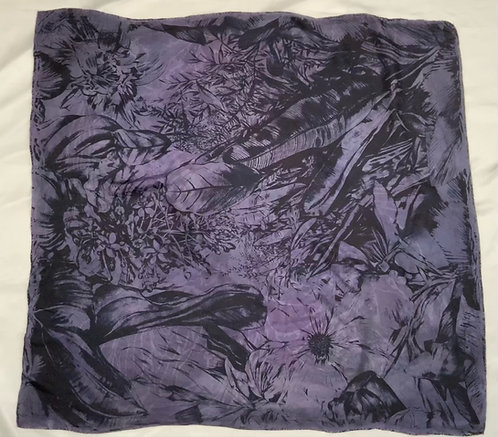 SAMPLE 07 - 100% Silk Twill Scarf - 90cm x 90cm