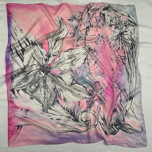 SAMPLE 02 - 100% Silk Twill Scarf - 90cm x 90cm