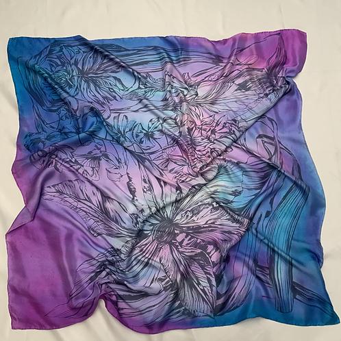 SAMPLE 06 - 100% Silk Twill Scarf - 90cm x 90cm