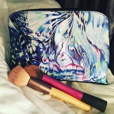 'Malay Lavender' Medium Cosmetic Bag