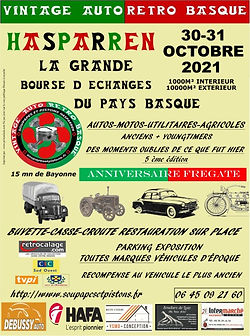 Affiche 2021 Vintage Auto Retro Basque