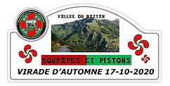 plaque rallye Virade Automne 2020 du clu