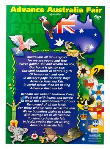Advance Australia Fair Charts