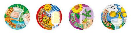 Science Merit Stickers