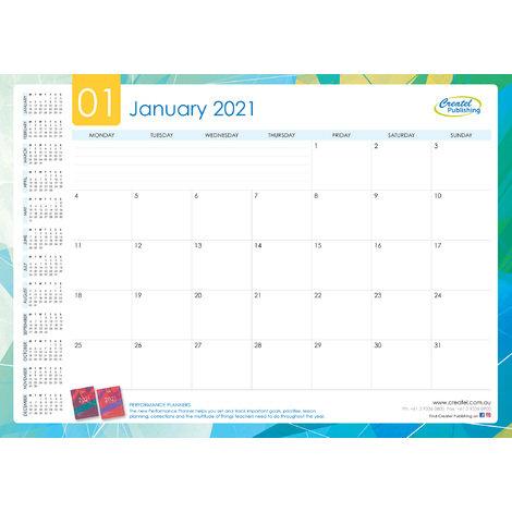 Createl Monthly Desk Pad 2021