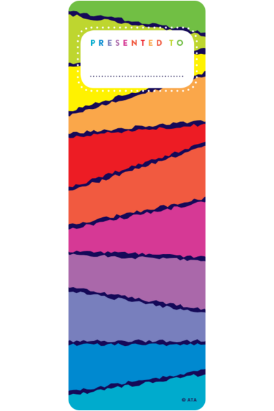 Rainbow Stripes Bookmark