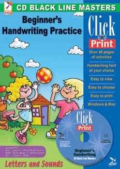 Black Line Masters Beginner's Handwriting Practice
