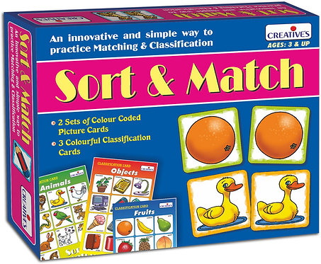 Sort & Match - Ages 3+