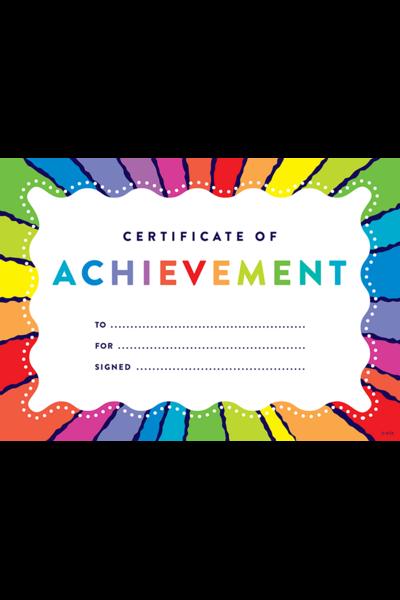 Rainbow Stripes Certificate