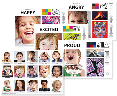 Emotions Art & Language Chart Pack