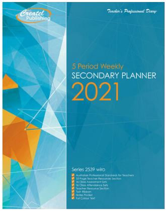 Createl Secondary 5 Period Weekly Planner 2021