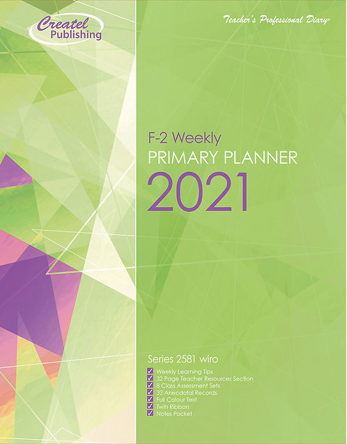 Createl F-2 Weekly Primary Planner 2021