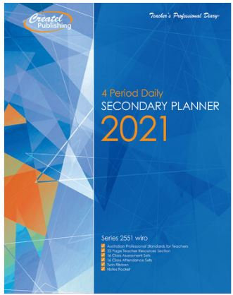 Createl Secondary 4 Period Daily Planner 2021