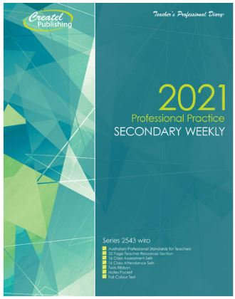 Createl Secondary Weekly Professional Practice Strategy Planner 2021