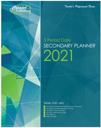 Createl Secondary 5 Period Daily Planner 2021