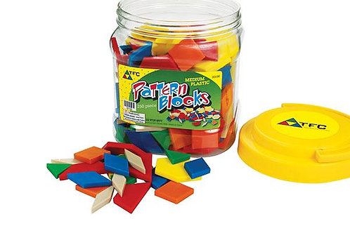 Plastic Pattern Blocks 250 pieces