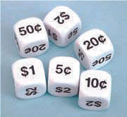 Money Dice - Note or Coin 22mm