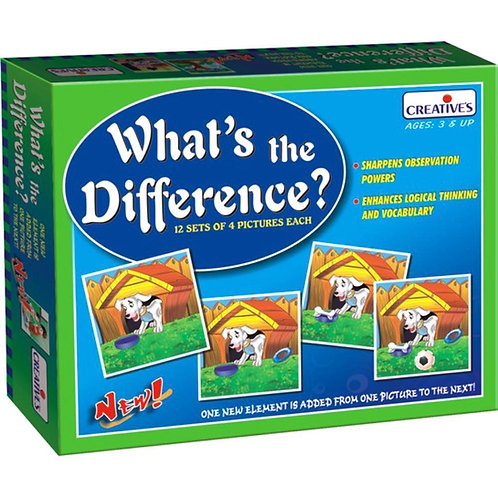 What's the Difference - Ages 3+