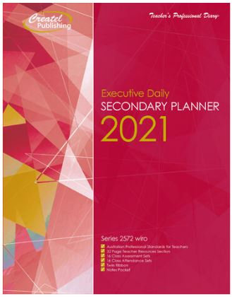 Createl Secondary Executive Daily Planner 2021